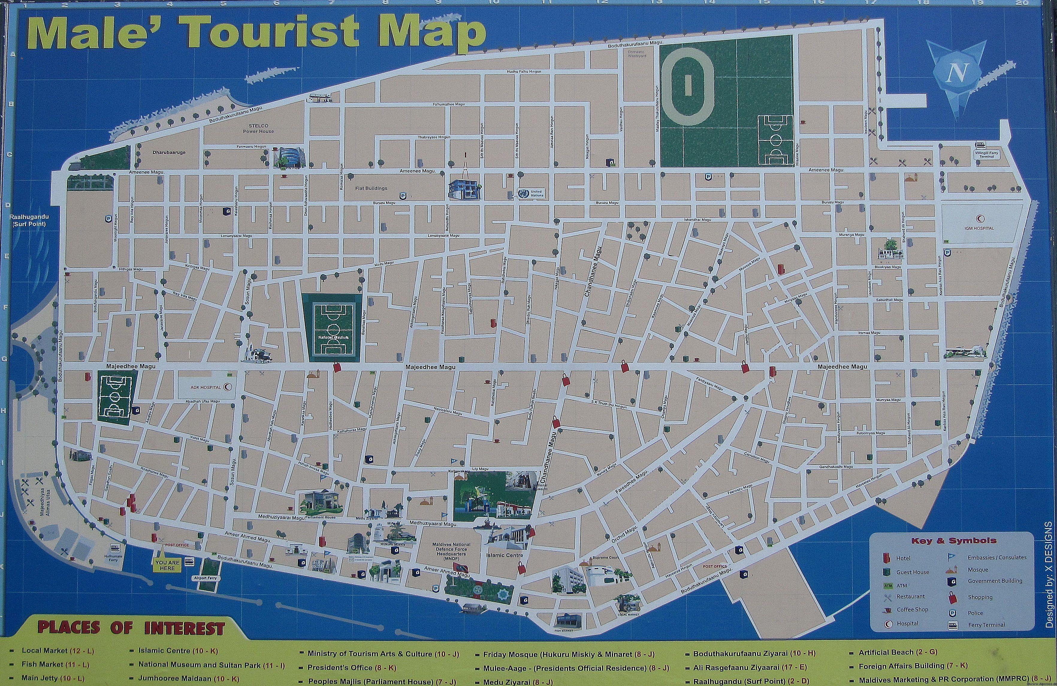 Maldives Travel Dive Information - male map